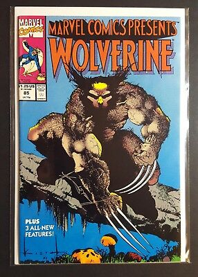 Wolverine Marvel Comics Presents #85 NM Signed by Sam Kieth in Silver ink Pt. #1
