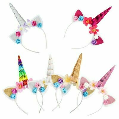 Magical Unicorn Horn Head Party Hair Headband Glitter Fancy Dress Cosplay Decor