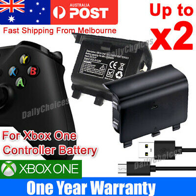 Xbox One Battery Charger Pack Wireless USB Rechargeable Controller 2400mA