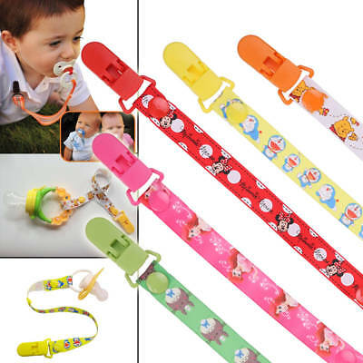 Boys Girls Baby Themed Dummy Clips Cartoon Holder Soother Pacifier Chain Straps