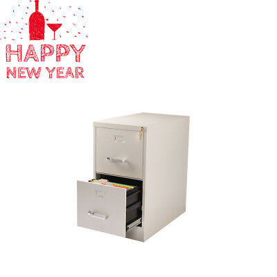 2 Drawer Office Cabinet 26 5 Deep Commercial Metal File With Lock