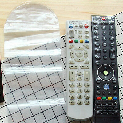 10X Heat Shrink Film TV Video Remote Control Protector Cover 、Pop