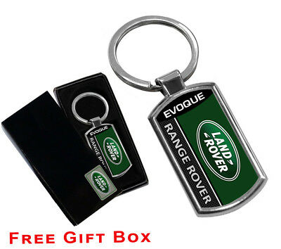 Range Rover Evoque Keyring Key Chain Ring Fob Chrome Metal New Gift