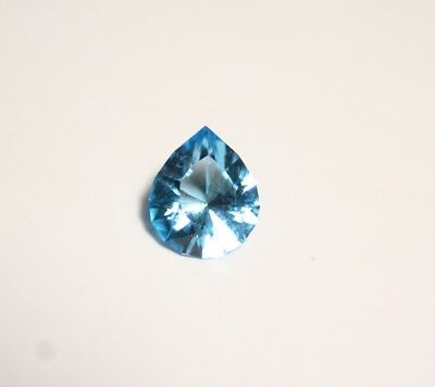 2ct Electric Blue Topaz - Flawless Tear Drop - Custom Cut