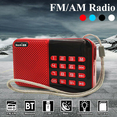 Portable Mini USB AM FM Radio Speaker Music Player Micro SD TF Card For Olders