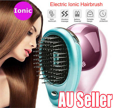 Portable Electric Ionic Hairbrush Takeout Mini Ion Hair Brush Comb Massage MN