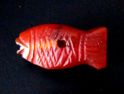 Antique Bactria chalcedony Carnelian Fish Pendent 仿古玉髓悬而未决
