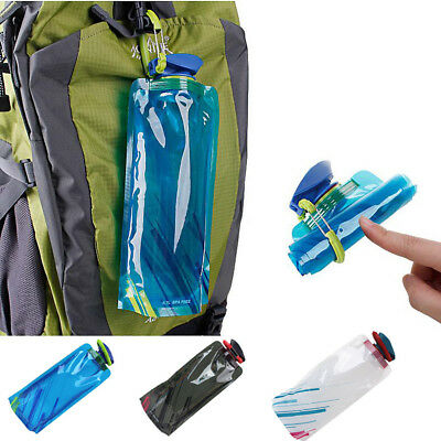500ml-1000ml Foldable Drinking Water Bottle Outdoor Hiking Camping Water Bag
