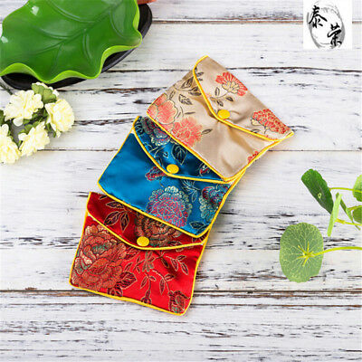 5Pcs Jewellery Jewelry Silk Pouch Packaging Bags Wedding Party Gift  LJ