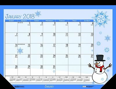 House of Doolittle 2018 Monthly Desk Pad Calendar, Seasonal, 22 x 17 inches,