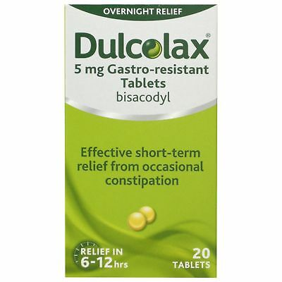 Dulcolax Bisacodyl 5Mg Gastro-Resistant - 20 Tablets *