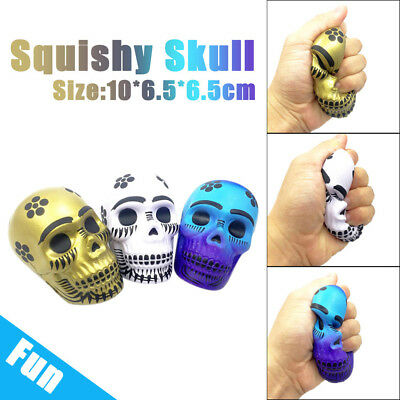 Exquisite Fun Galaxy Skull Cool Scented Squishy Charm Slow Rising 10cm Kid Toys