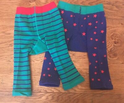 Joules Baby Gorgeous Long Johns/trousers  Xmas 2 Pairs - 0-6 - BNWT