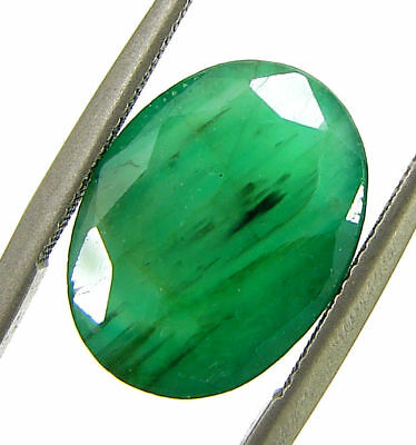4.53 Ct Certified Natural Green Emerald Loose Gemstone Untreated Oval Cut- 98597