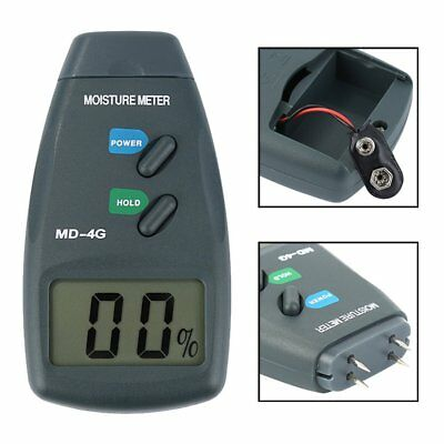 Digital 4 Pin LCD Wood Moisture Humidity Meter Damp Detector Tester 5% - 40% MC