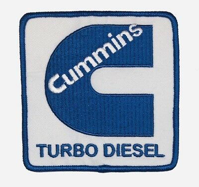 CUMMINS TURBO DIESEL PATCH. MADE IN THE USA! Size: 3-3/4 x 3-3/4 NICE!