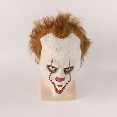 Halloween Cosplay Scary Mask Costume Movie Stephen King's IT Clown Pennywise