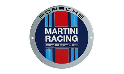 Original Posche Grillbadge Emblem Plakette – Limited Edition – MARTINI RACING®