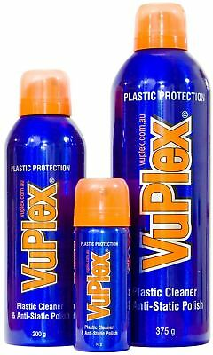 VuPlex Anti-Static Gloss & Glass Cleaner Spray / Caravans / Cars / Boats / Prote
