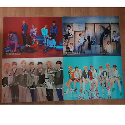 Poster(s) Only BTS Love Yourself Answer Official Poster Hard Case Tube Packing