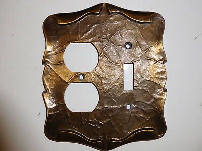 Carriage House Dark Brass Single Gang Toggle Switch Wall Plate Vintage Amerock