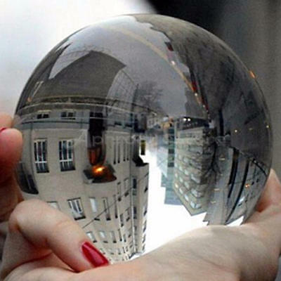 80mm Clear Glass Crystal Ball Healing Sphere Photography Props Gifts HOT