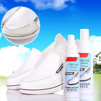 100ml Magic Refreshed Refreshed White Shoe Cleaner Cleaning Polish Tool Kit---