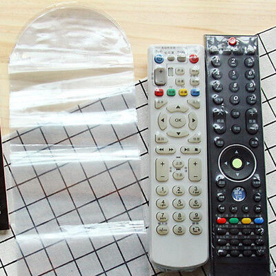 5/10x Heat Shrink Film TV Video Air-Conditioner Remote Control Protector Cover--