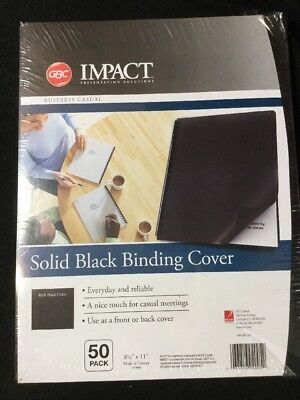 GBC Solid Black Binding Cover One Package Qty