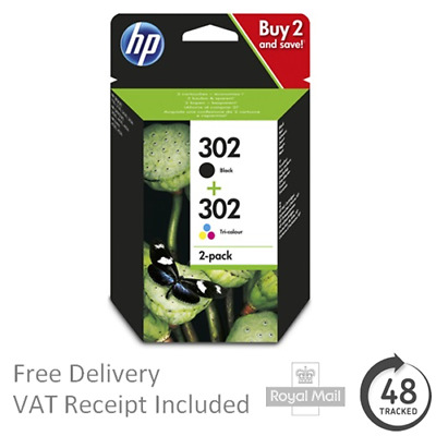 HP 302 Ink Cartridges - Black & Colour Combo Pack - HP Ink
