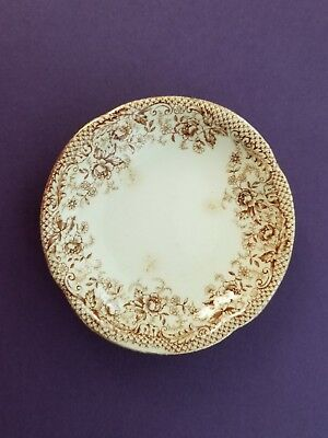Henry Alcock  Brown Floral Butter Pat Gold Trim  201915  3  Brunswick