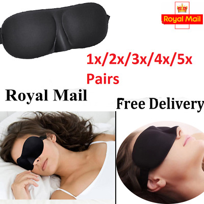 3D Eye Mask Soft Sponge Padded Travel Sleeping Blindfold Sleep Aid Shaded Cover