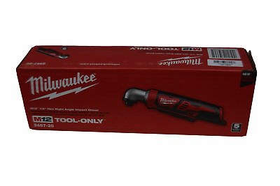 """Milwaukee 2467-20 M12 12V 1/4"""" Hex Right Angle Impact Driver Bare Tool Cordless"""