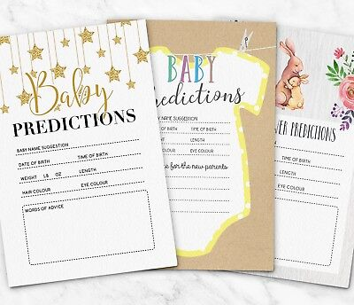 25 x Baby Shower Prediction Cards Games ~ Girl or Boy (G20)