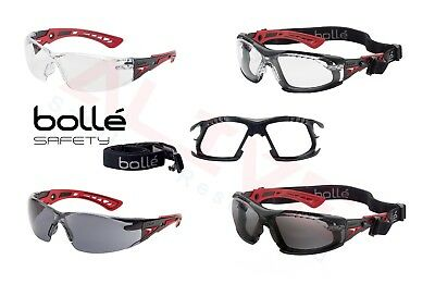 Bolle RUSH+ PLUS Safety Glasses / Goggles & RUSHKITFS Foam And Strap Kit