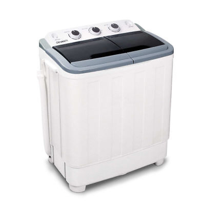 5kg Mini Portable Washing Machine Top Load Twin Spin Dry Camping Caravan Home