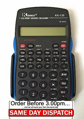Scientific Calculator Electronic Office 10 Digits School Exams Gcse Work Office