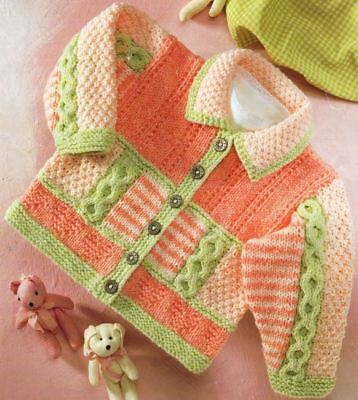 Knitting Pattern Baby/Child DK Cable Cardigan/Jacket  41-66 cm  (175)