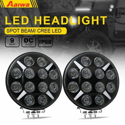 2X 9inch 120W CREE LED Round Work Light Spot Driving Head Light DRL offroad Jeep