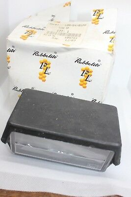 Rubbolite M100 Black Number Plate Light Lamp Truck Trailer Van Car 12V/24V