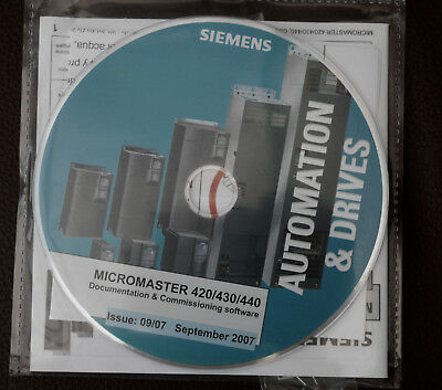 SIEMENS  MICROMASTER 420/430/440  documentation & commissioning software