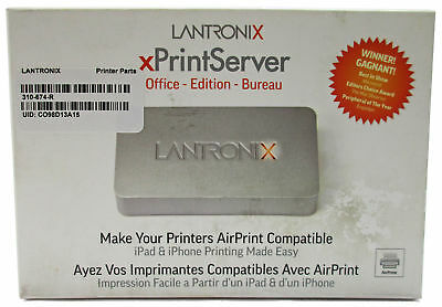 NEW Lantronix xPrintServer Office AirPrint XPS1002FC-02-S iPhone Printing iOS