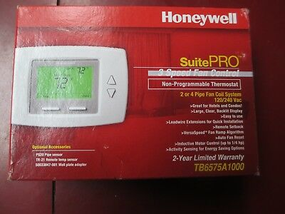 Honeywell Suite Pro 3 Speed Fan Control Non Programmable Thermostat Tb6575A1000