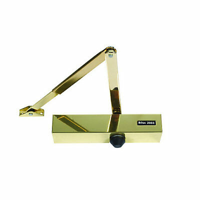 BRITON 2003V OVERHEAD DOOR CLOSER Polished Brass / stainless steel Fire rated 🔥
