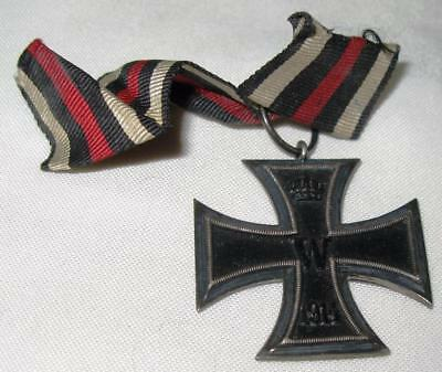 Original German WWI Iron Cross Medal 'FW / W' 1813 1914 Ring Stamped