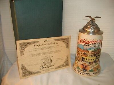 Rare Yuengling Signature Series First Edition Stein in box w/coa