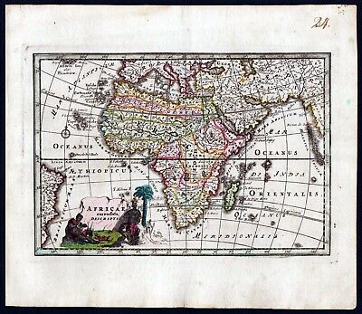 1720 - Africa Afrika continent map Weigel engraving antique Kupferstich Karte