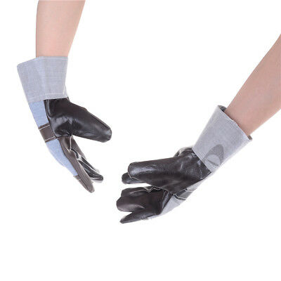 Heat insulation thickening Leather Welding Gloves labor protection Supplies_L