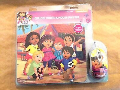 New Dora the Explorer Mouse and Mousepad Kit Optical (works With USB Plug In)