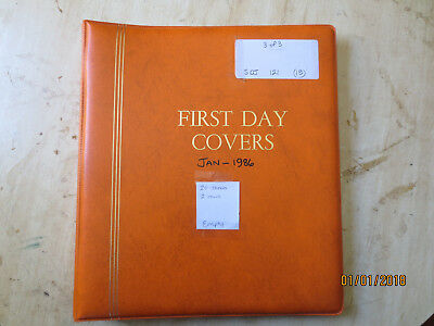 No-52 - FDC  ALBUM   20  PAGES  DOUBLE  SIDED -3  RING  BINDER--GOOD ORDER